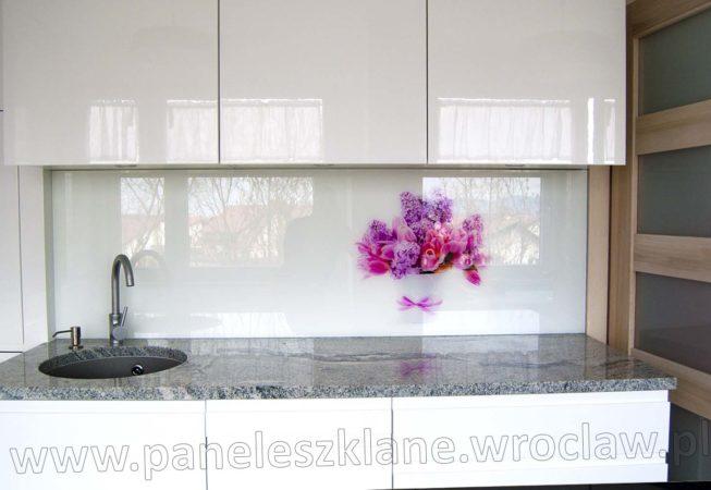 Panel szklany kwiatek
