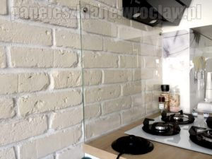 panel przeźroczysty; biała cegiełka