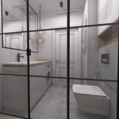 drzwi prysznicowe loft mała łazienka