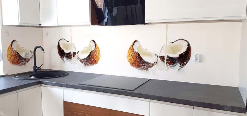 panel szklany kokosy