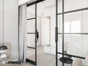loft glass system przesuwny czarny